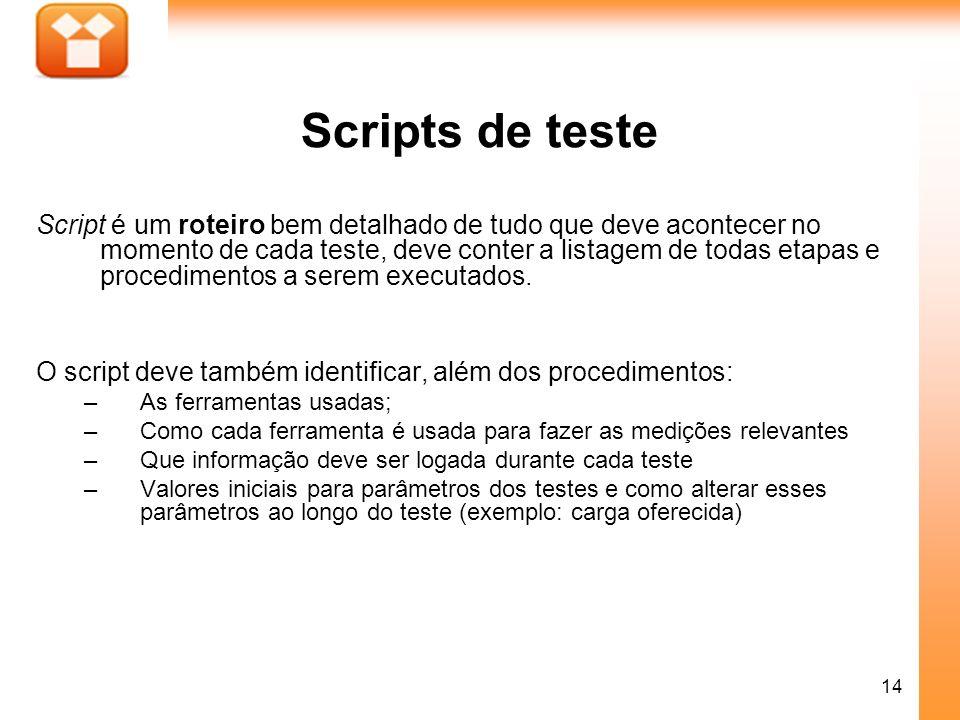 Scripts de teste