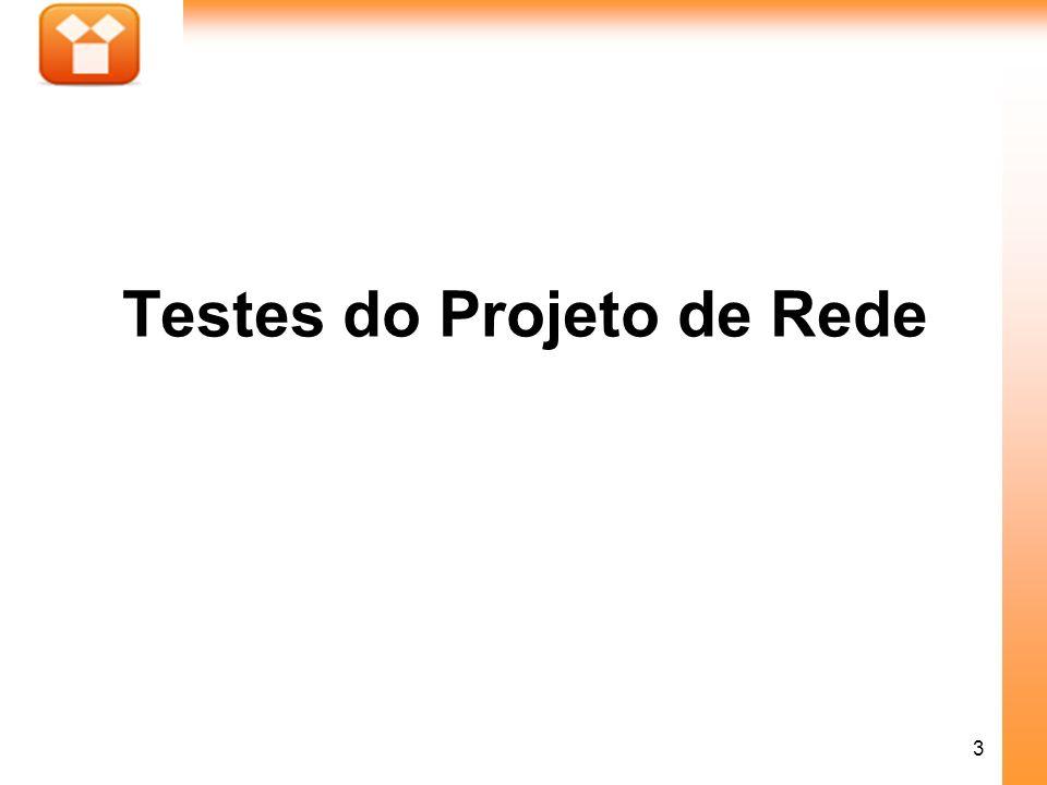 Testes do Projeto de Rede