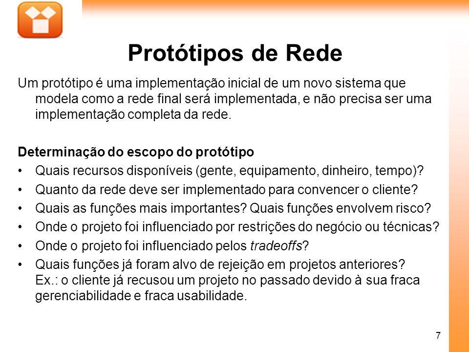 Protótipos de Rede