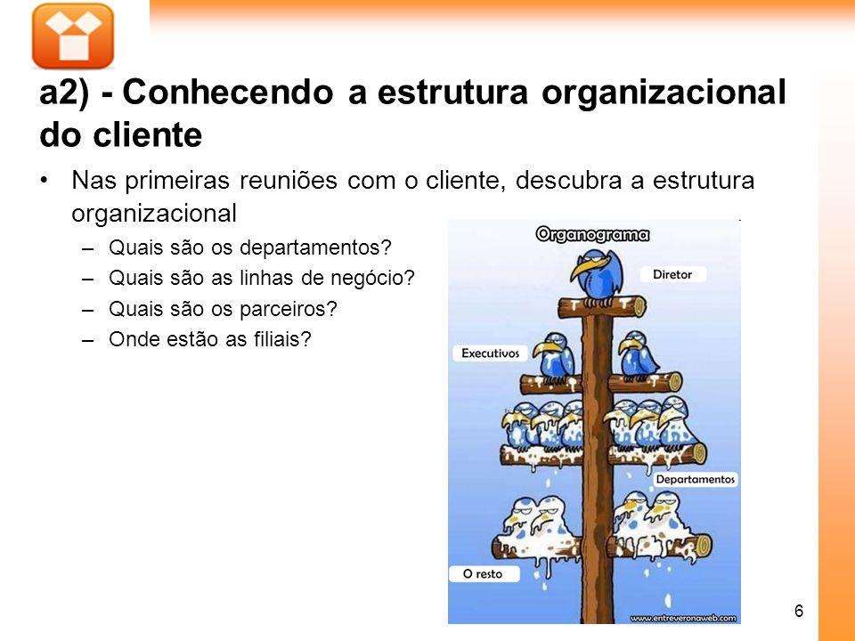 a2) - Conhecendo a estrutura organizacional do cliente