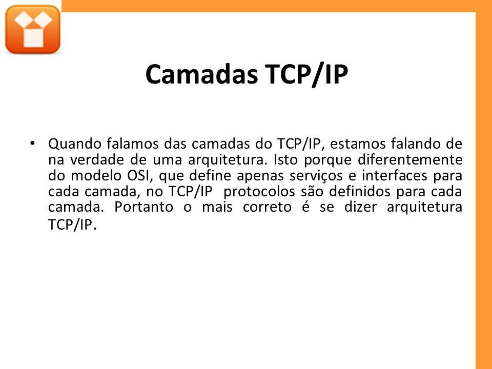 Camadas TCP/IP