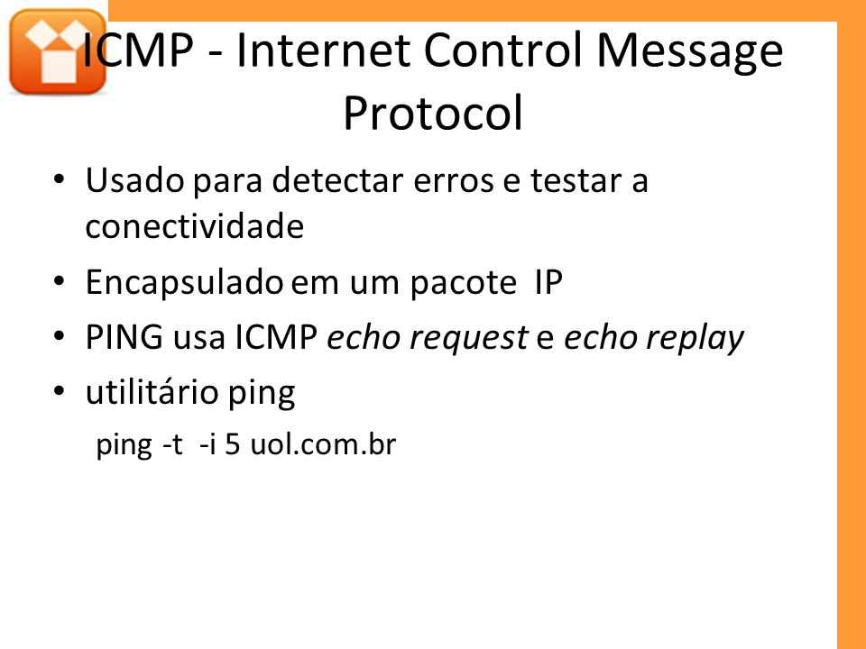 ICMP - Internet Control Message Protocol