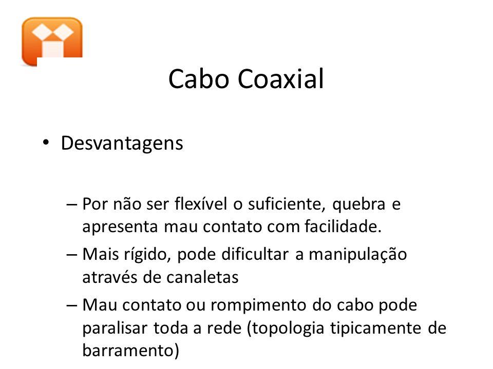 Cabo Coaxial Desvantagens