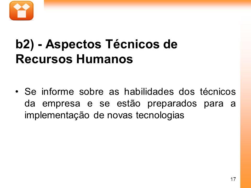 b2) - Aspectos Técnicos de Recursos Humanos