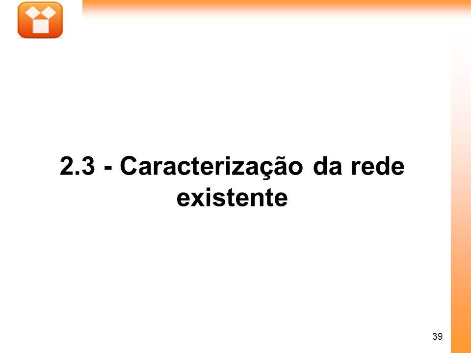 2.3 - Caracterização da rede existente