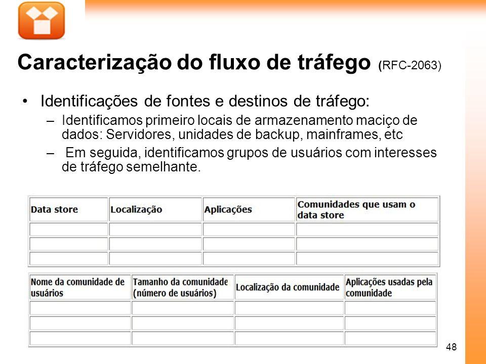 Caracterização do fluxo de tráfego (RFC-2063)