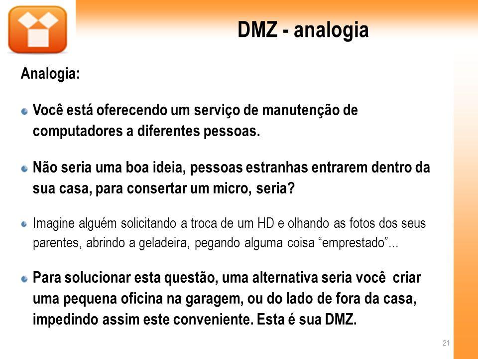 DMZ - analogia Analogia: