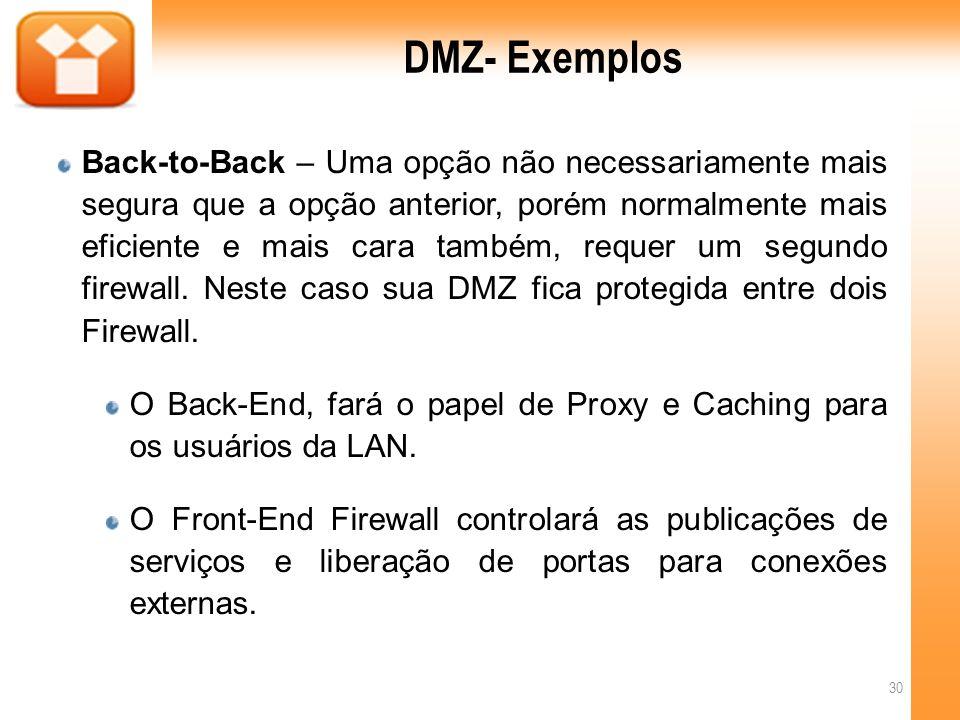 DMZ- Exemplos