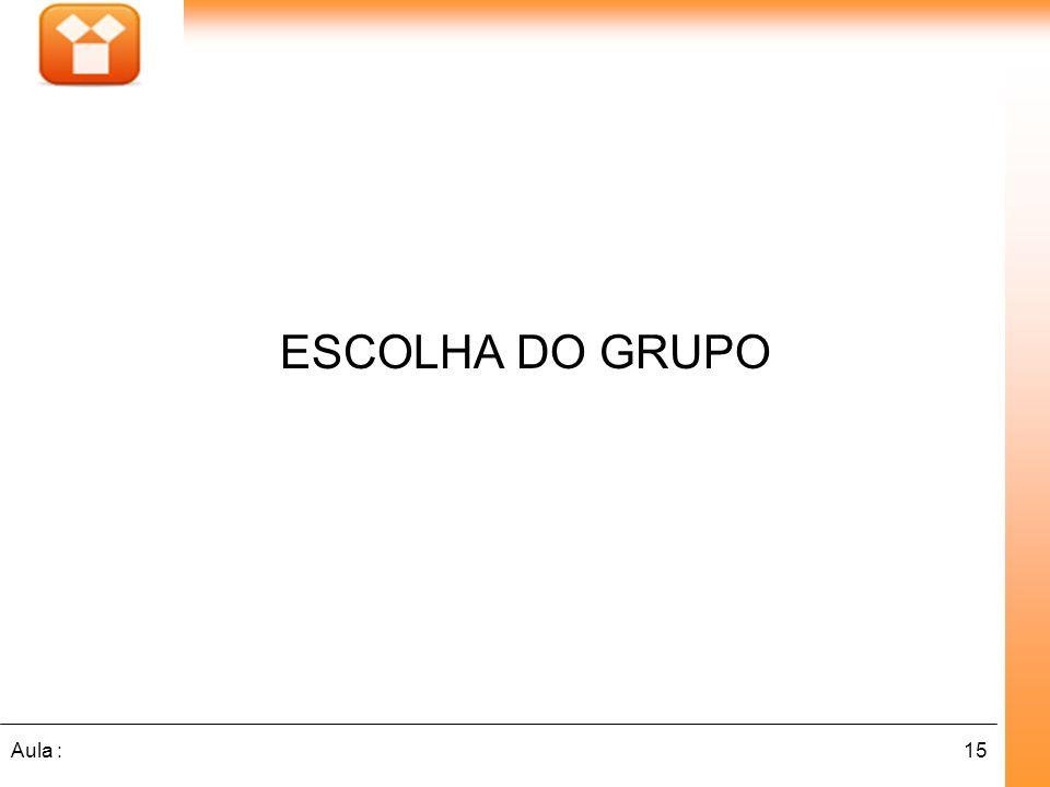 ESCOLHA DO GRUPO