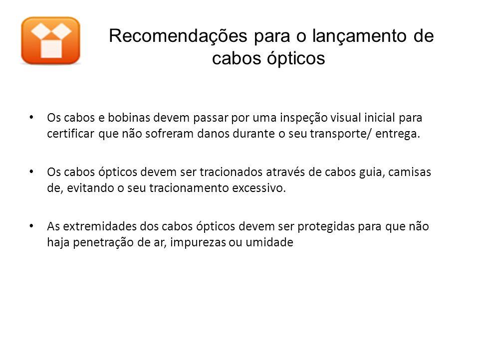 Recomendações para o lançamento de cabos ópticos
