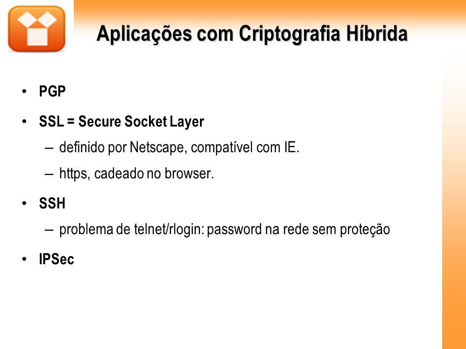 Aplicações com Criptografia Híbrida