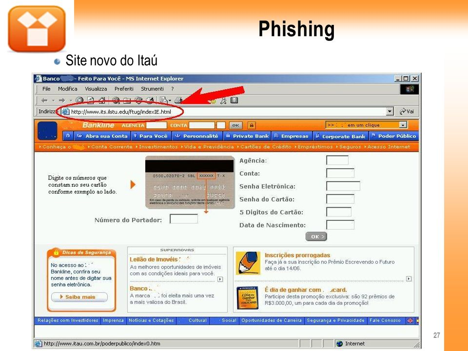 Phishing Site novo do Itaú 27