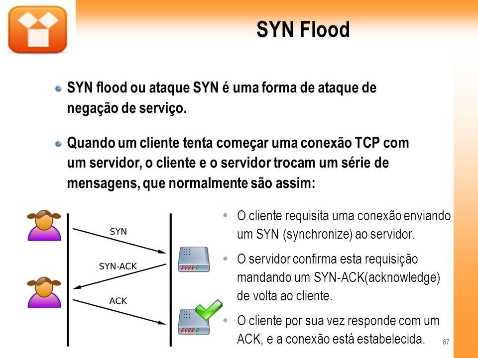 SYN FloodSYN flood ou ataque SYN é uma forma de ataque de negação de serviço.