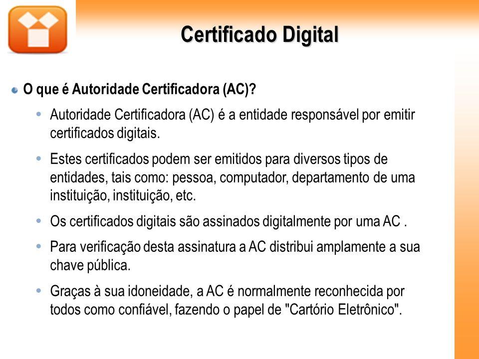 Certificado Digital O que é Autoridade Certificadora (AC)