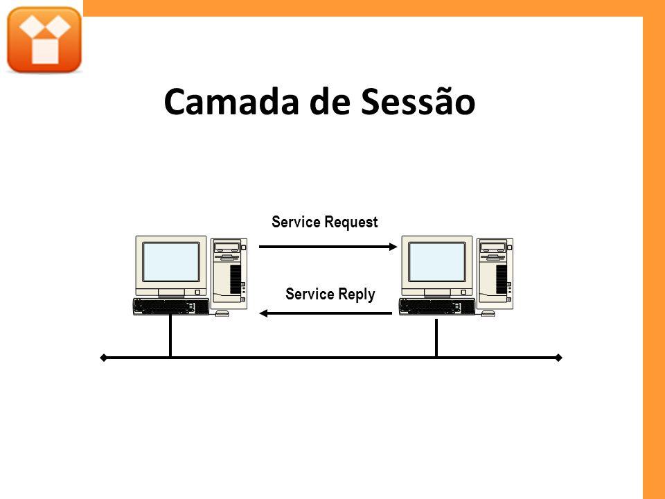 Camada de Sessão Service Request Service Reply