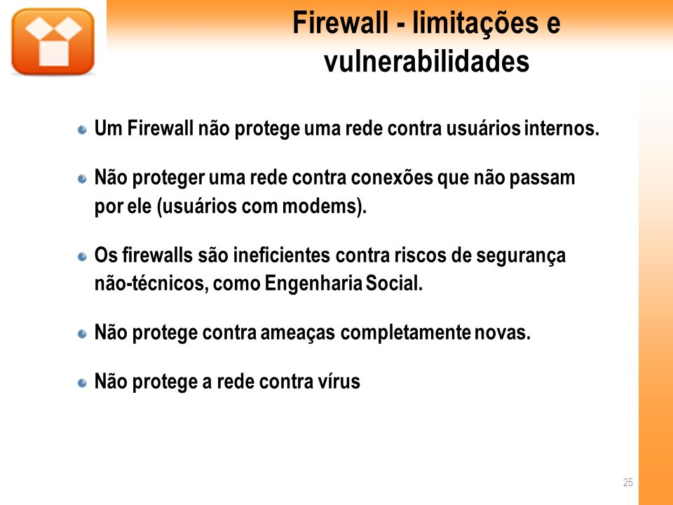 Firewall - limitações e vulnerabilidades