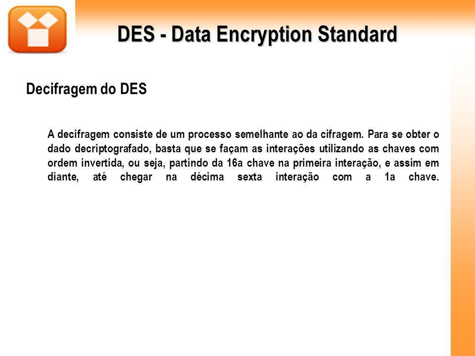 DES - Data Encryption Standard