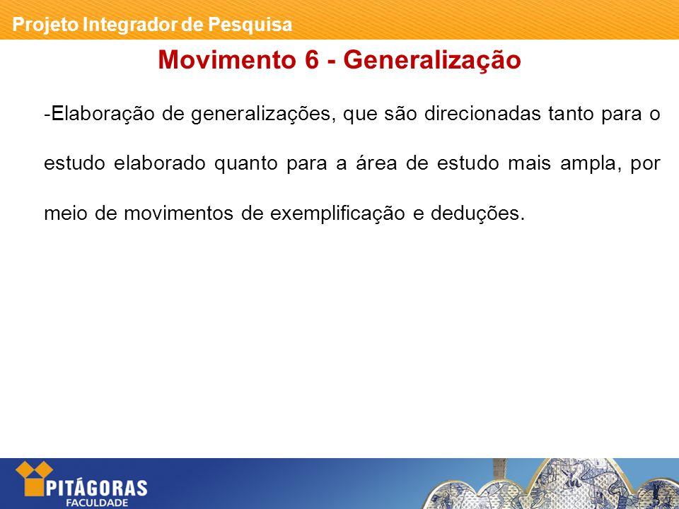 Movimento 6 - Generalização
