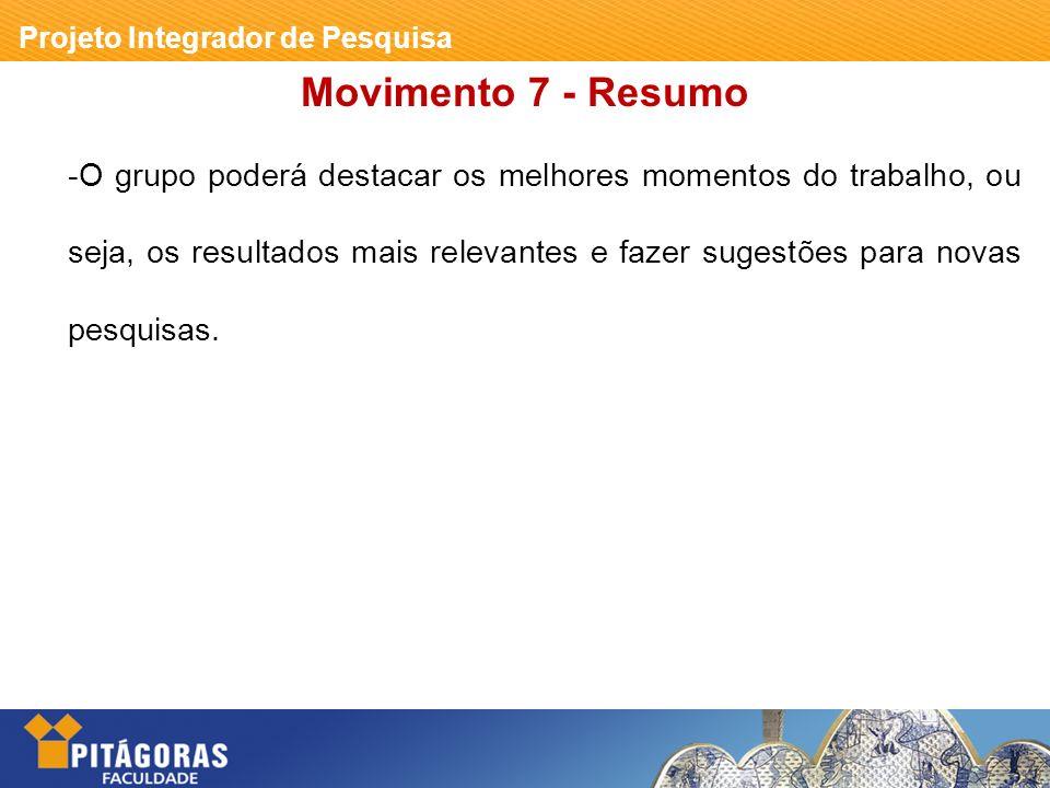 Movimento 7 - Resumo