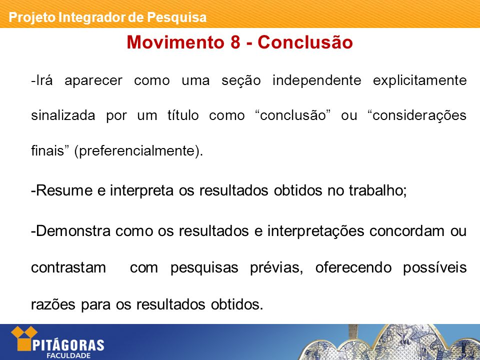 Movimento 8 - Conclusão