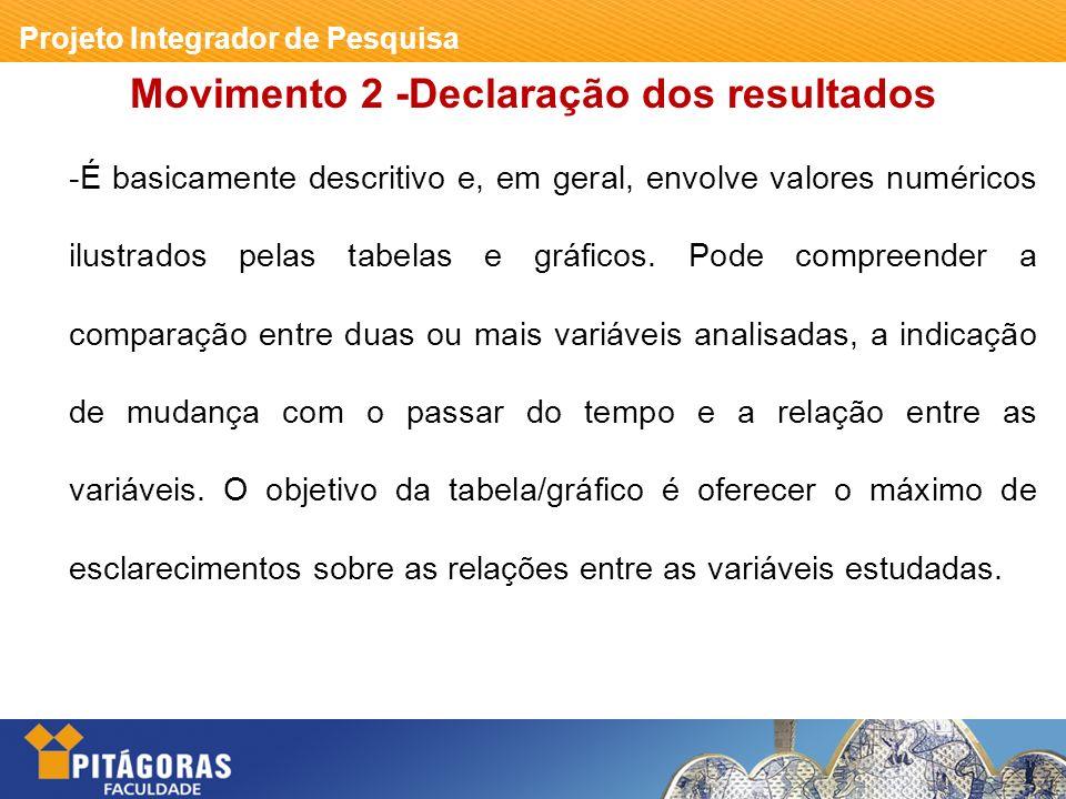 Movimento 2 -Declaração dos resultados