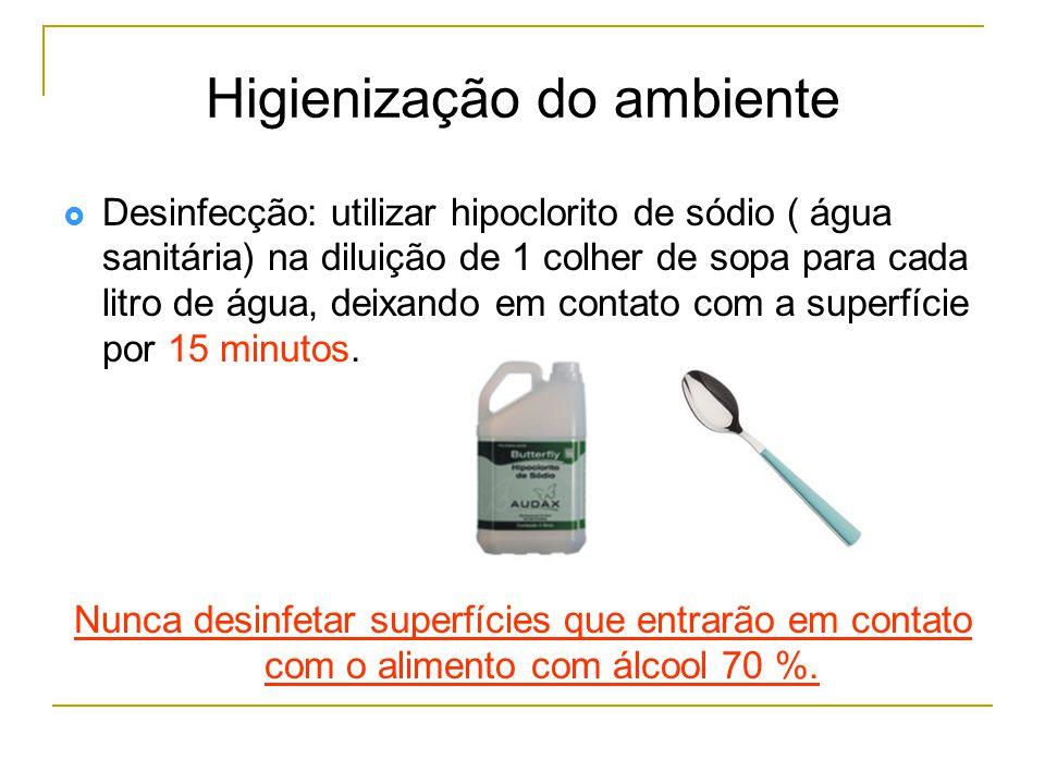 Higienização do ambiente
