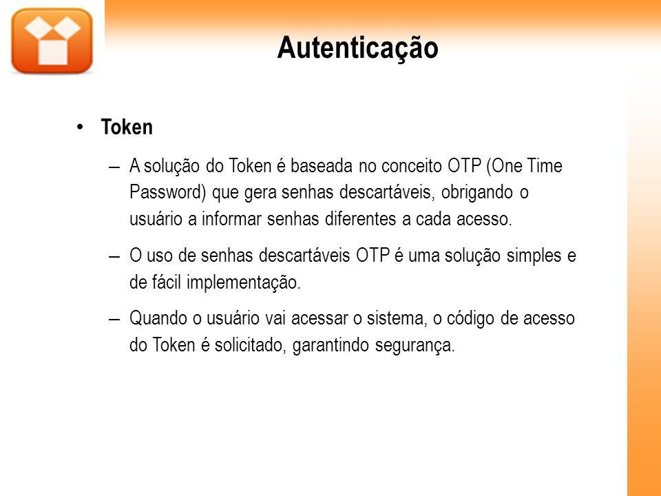 Autenticação Token.