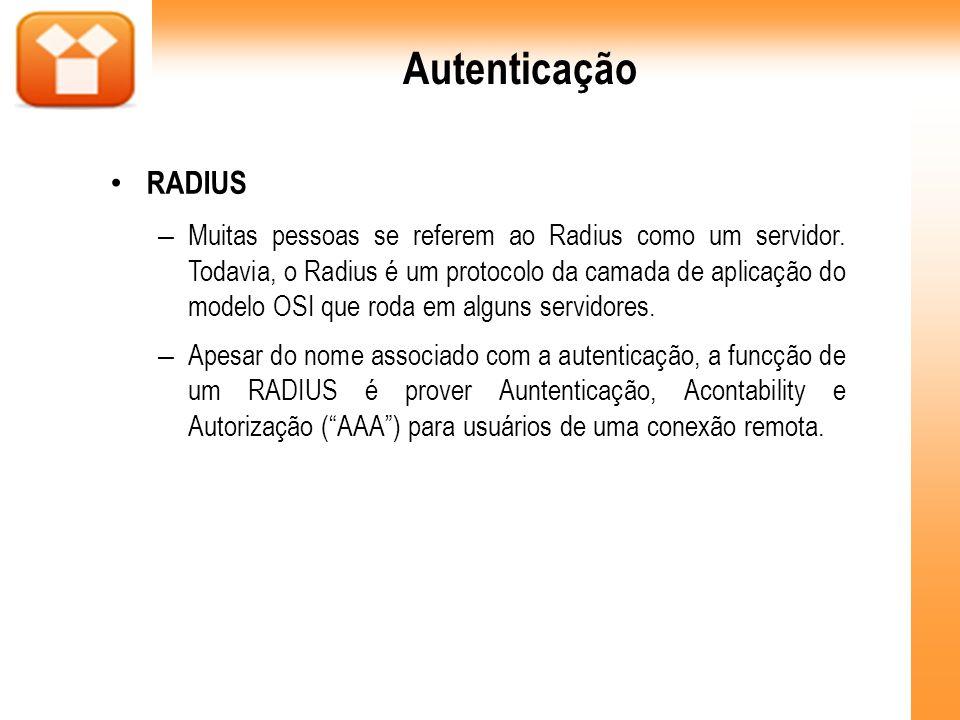 Autenticação RADIUS.
