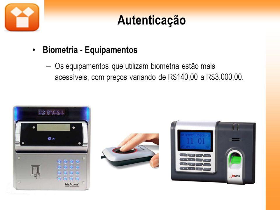 Autenticação Biometria - Equipamentos