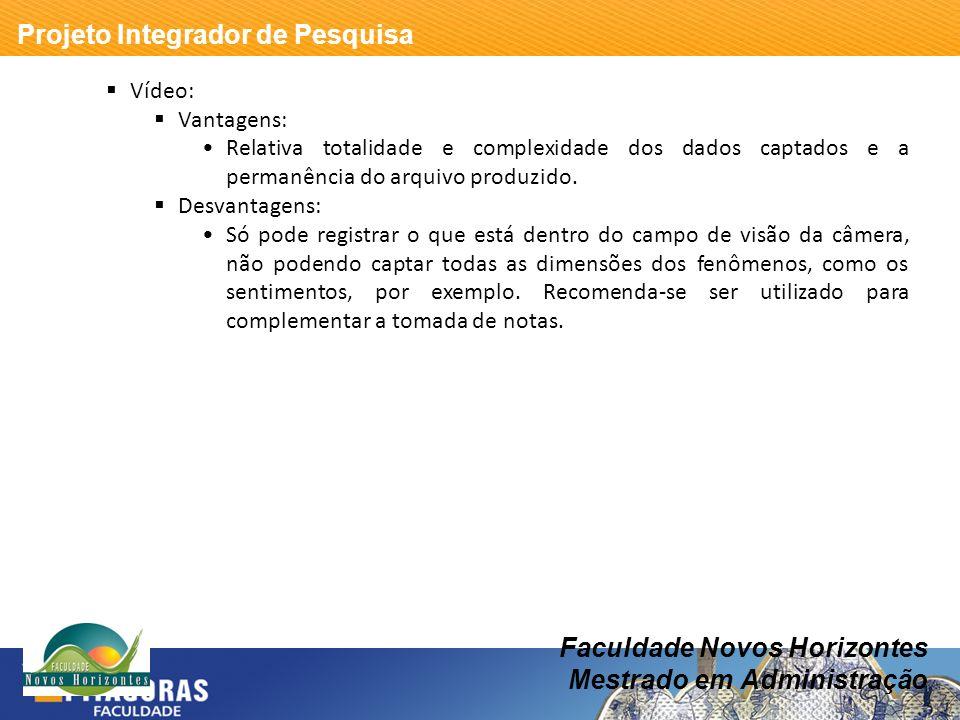 Faculdade Novos Horizontes Mestrado em Administração