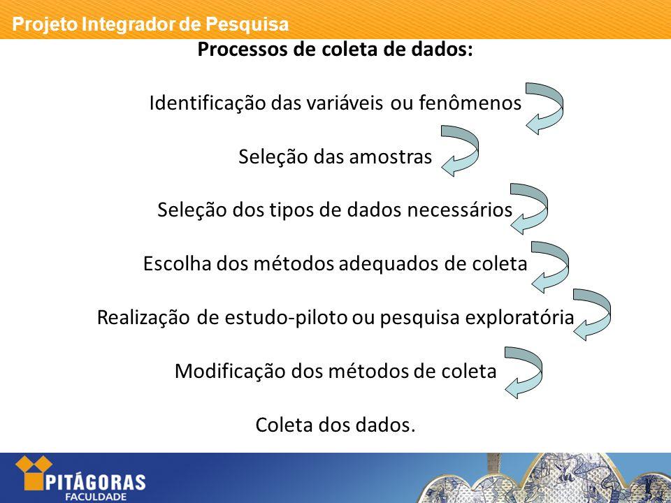 Processos de coleta de dados: