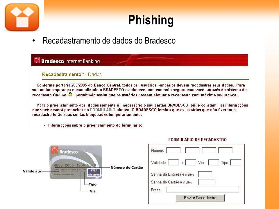 Phishing Recadastramento de dados do Bradesco 23