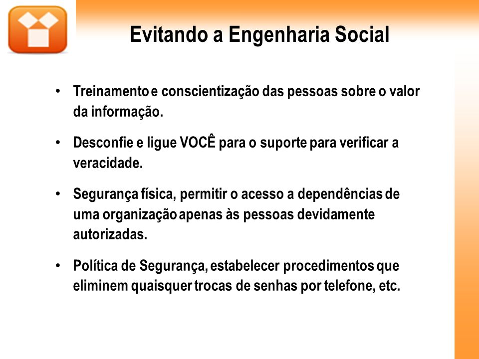 Evitando a Engenharia Social