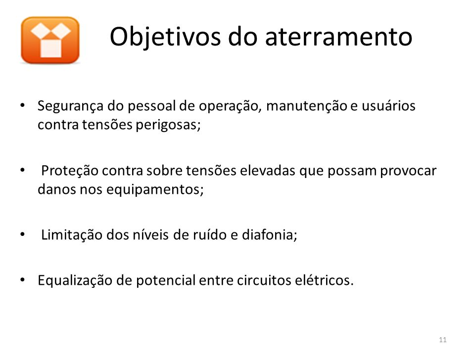 Objetivos do aterramento