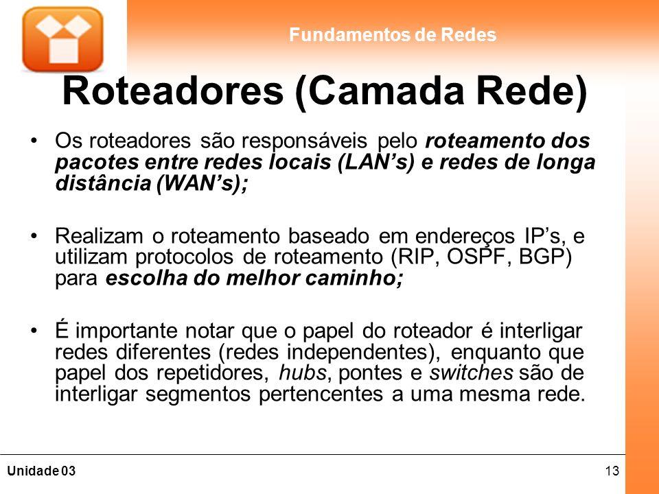 Roteadores (Camada Rede)