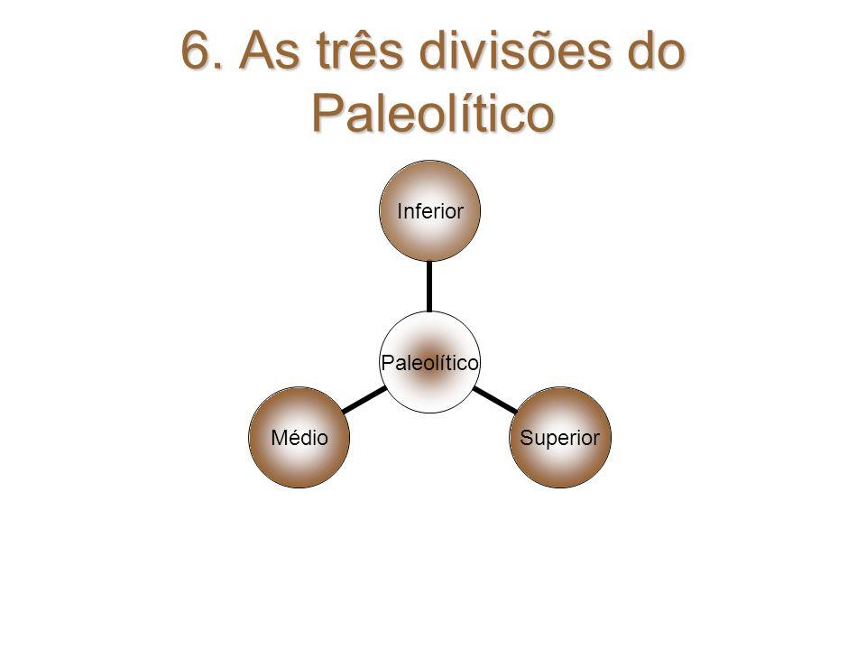 6. As três divisões do Paleolítico