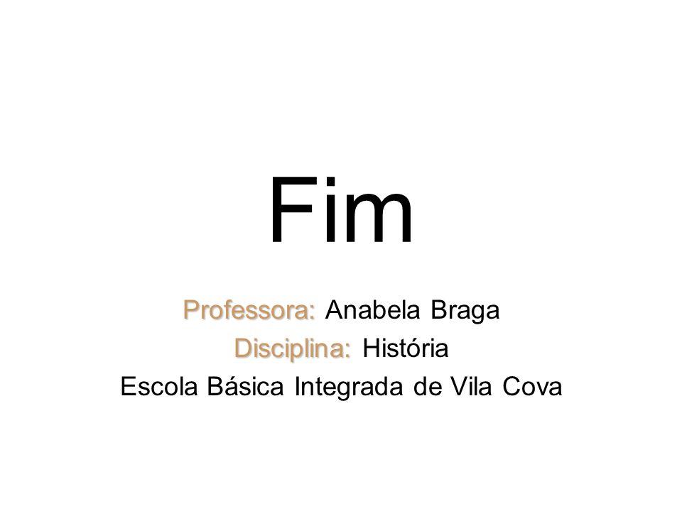 Fim Professora: Anabela Braga Disciplina: História