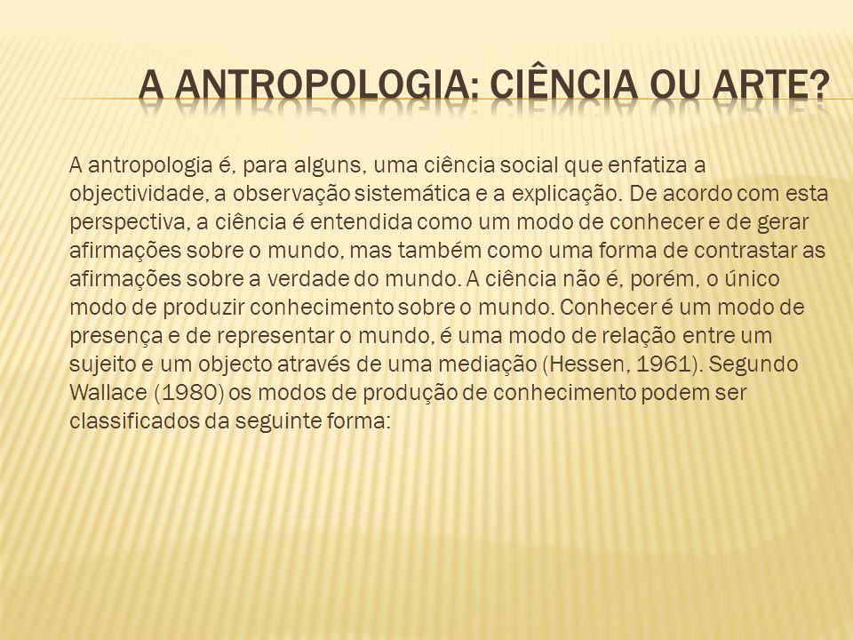 A antropologia: ciência ou arte