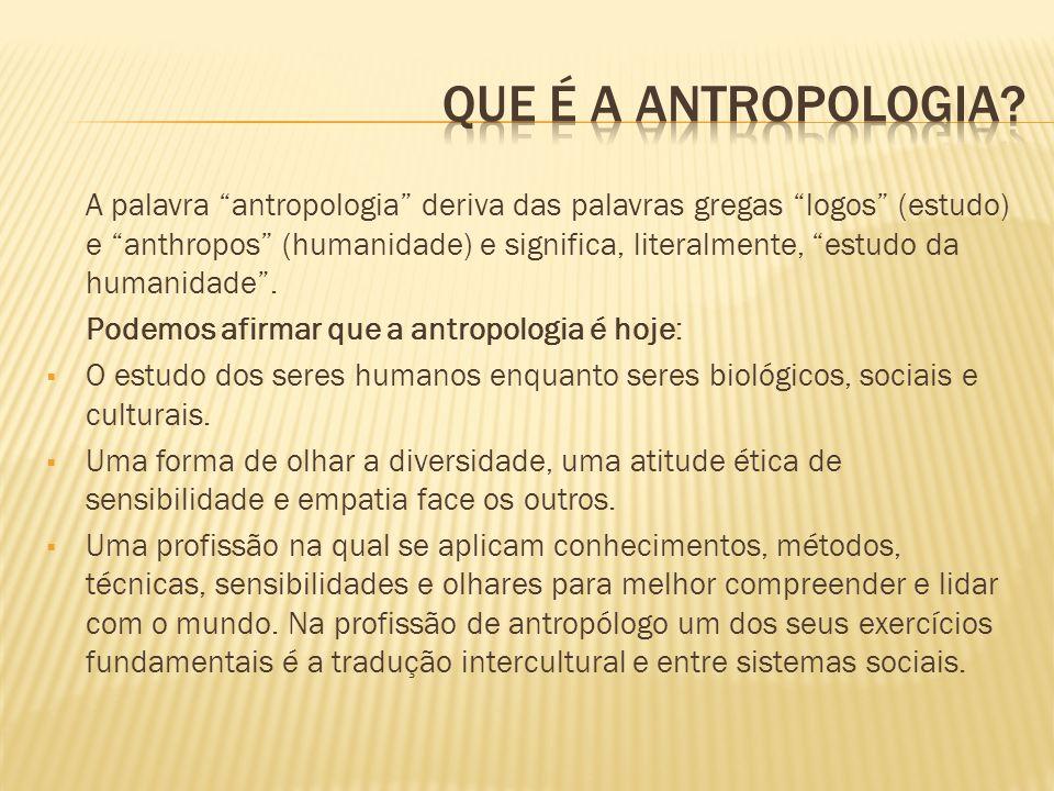 Que é a antropologia