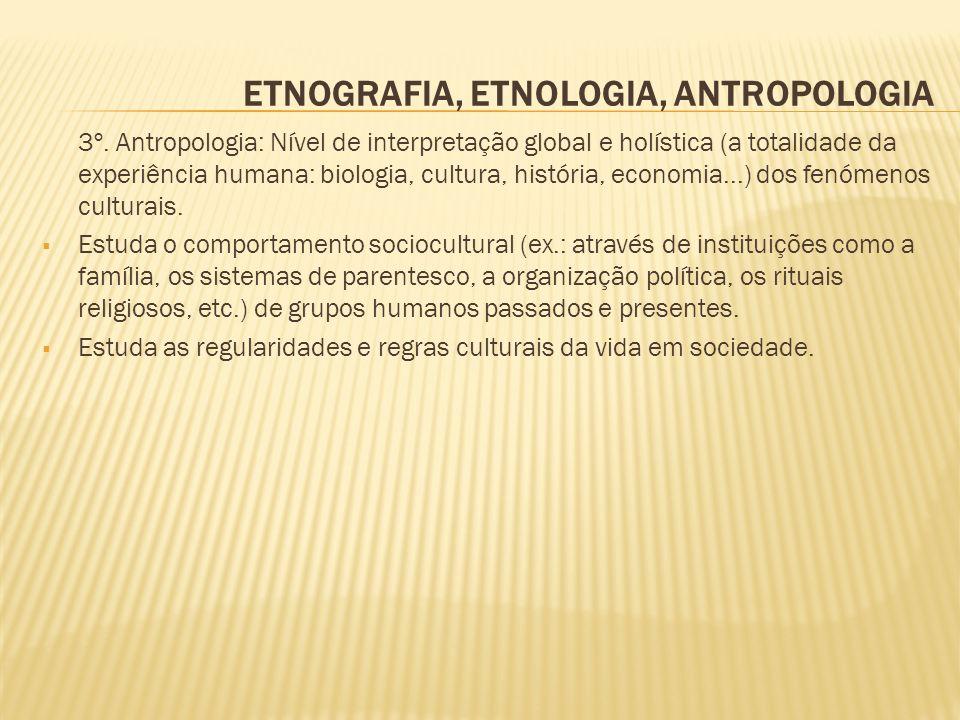ETNOGRAFIA, ETNOLOGIA, ANTROPOLOGIA