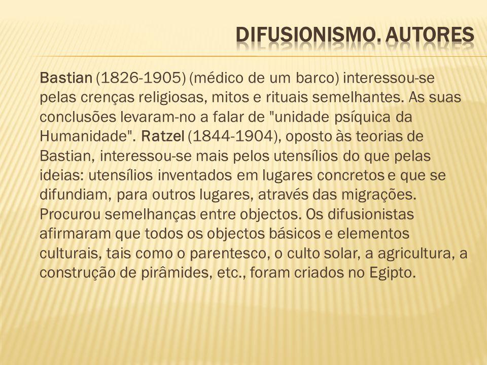 Difusionismo. autores