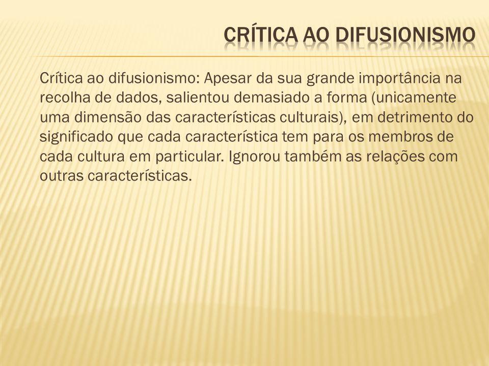 Crítica ao difusionismo