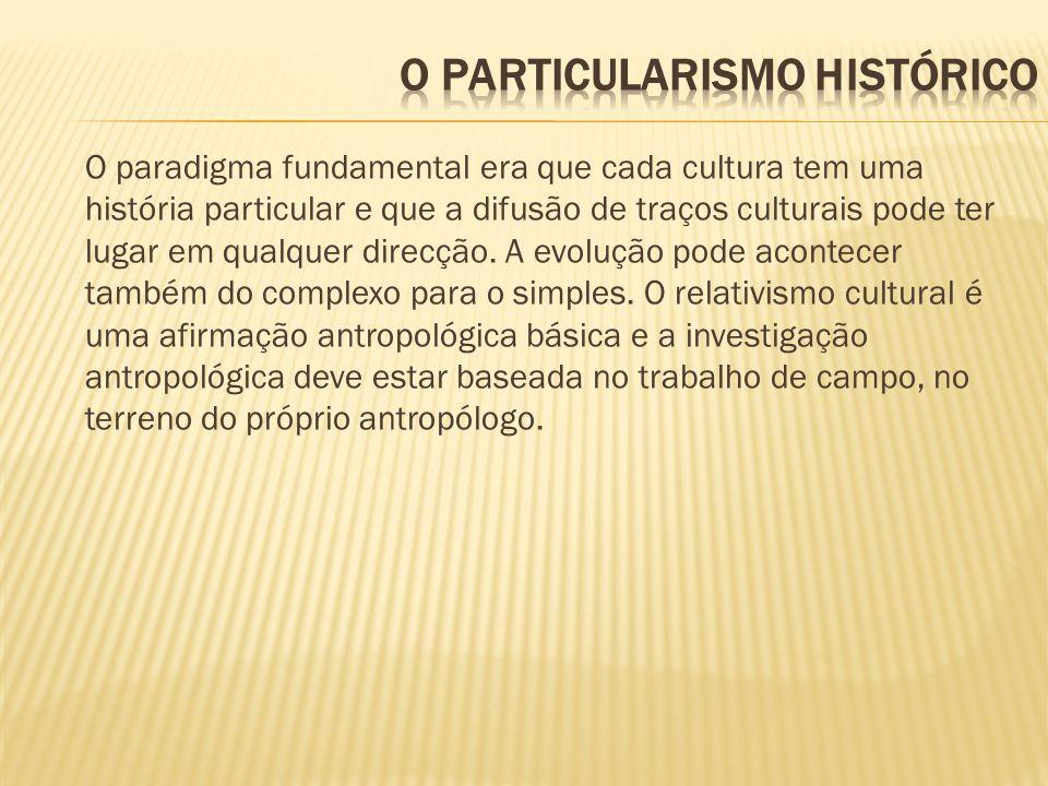 O PARTICULARISMO HISTÓRICO