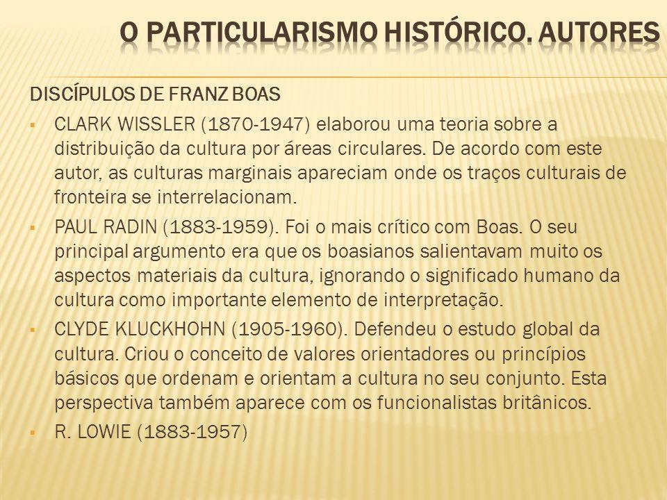 O PARTICULARISMO HISTÓRICO. autores