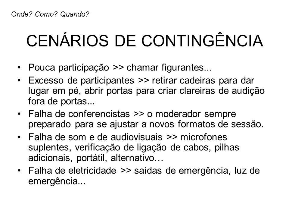 CENÁRIOS DE CONTINGÊNCIA
