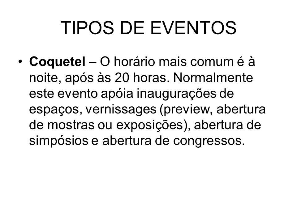 TIPOS DE EVENTOS