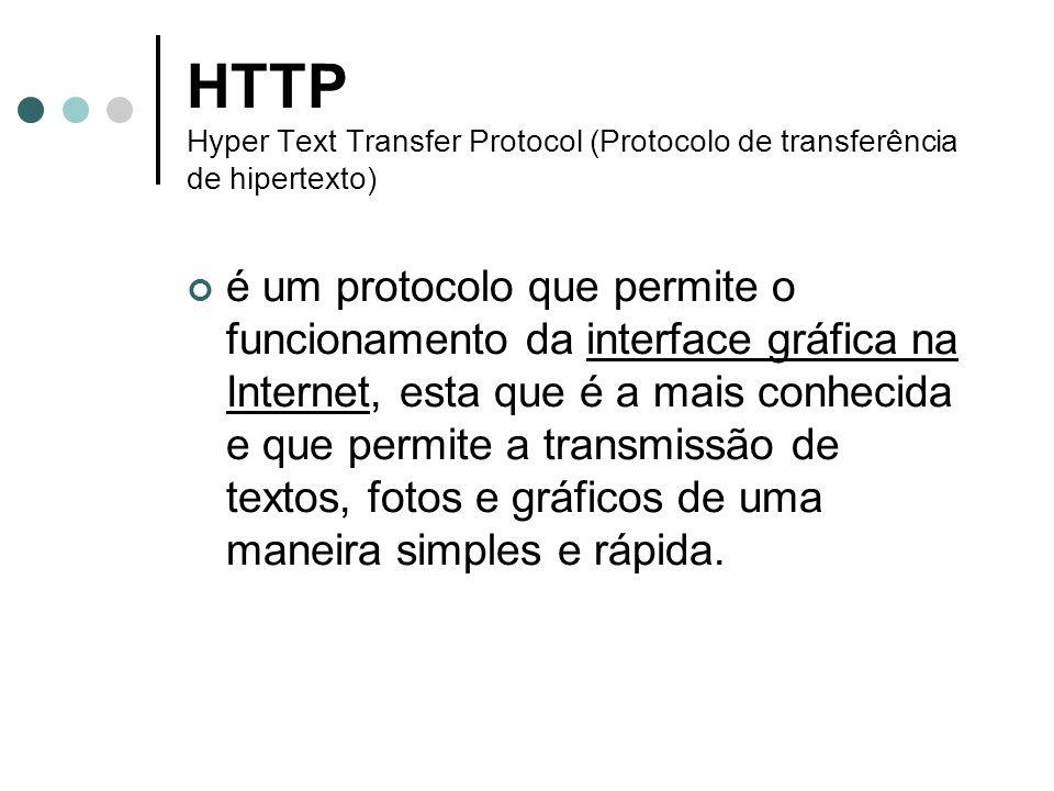 HTTP Hyper Text Transfer Protocol (Protocolo de transferência de hipertexto)