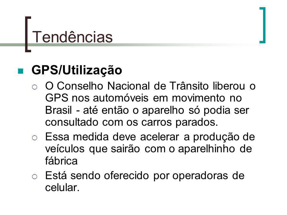 Tendências GPS/Utilização