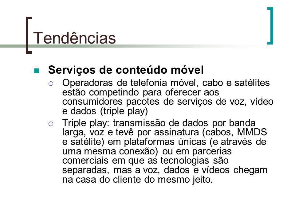 Tendências Serviços de conteúdo móvel