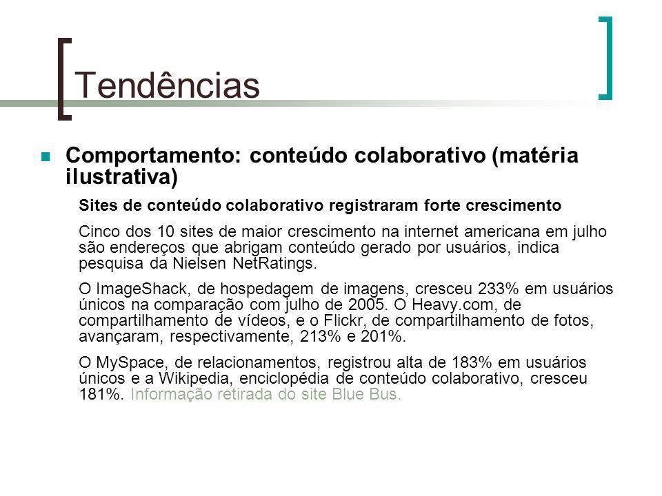 Tendências Comportamento: conteúdo colaborativo (matéria ilustrativa)